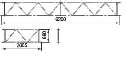 Bridging beams with coupler