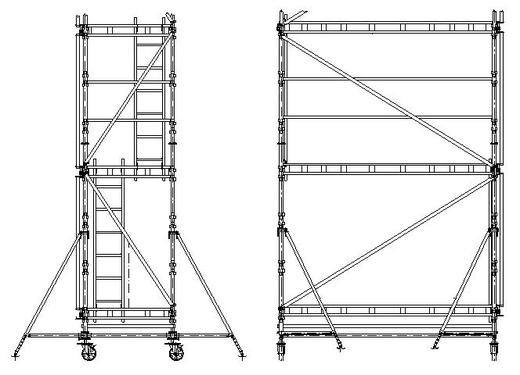 Scheme of UNI Mobile scaffolding